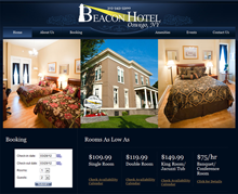 Picture of Beacon Hotel Oswego, NY Web Site