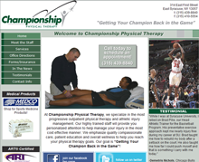 Picture of Championship Physical Therapy Web Site