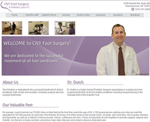 Picture of CNY Foot Surgery & Podiatry Care Web Site