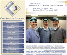 Picture of Fallon Oral Surgery of Syracuse Web Site