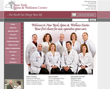 Picture of NY Spine And Wellness Web Site